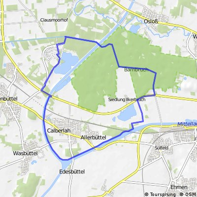 Isenbüttel - Elbe-Seitenkanal - Schleuse - Ilkerbruch - Barnbruch - Isenbüttel