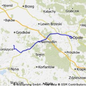 Opole - Chróścina, przez Wrzoski i Sidzinę