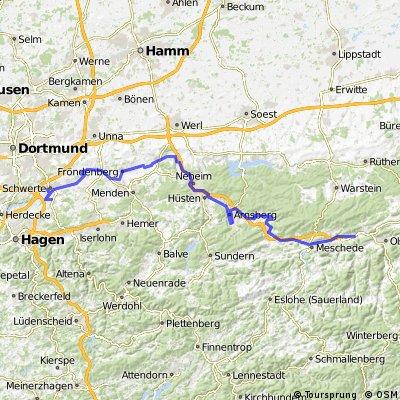 Ruhrtalradweg von Bestwig nach Schwerte