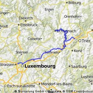Heimfahrt über Echternach
