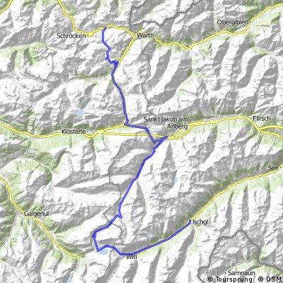 TransAlp: Warth - Gardasee  1. Etappe