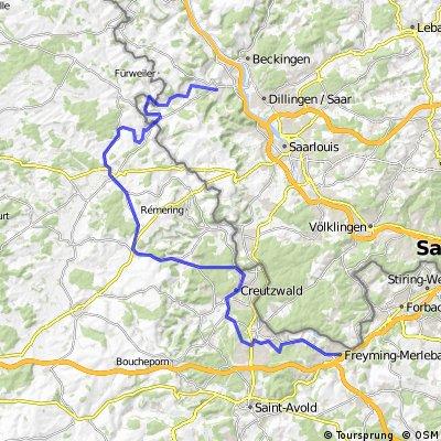 Freyming-Merlebach - Bouzonville - Siersburg