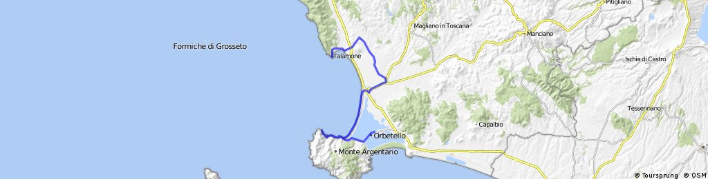 Talamone Italy Map.Orbetello Talamone 120519 Bikemap Your Bike Routes