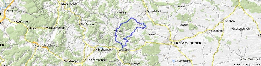 MTB 3-Eichen, Burg Stein, Plesse, Hülfensb.