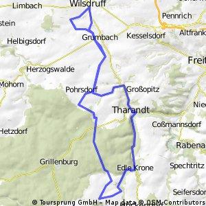 Wilsdruff - Pohrsdorf - Hartha - Dorfhain - Tharandt - Pohrsdorf  - Wilsdruff