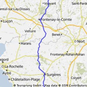 Day 4  la chaitaigneraie to tonnay boutonne