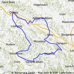 Orthez-Navarrenx-Monein-Artix-Arthez-Orthez