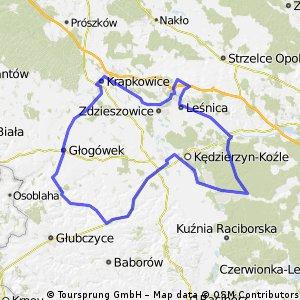 Wysoka-Zdzieszowice-Krapkowice-Glogowek-Grudynia-Kozle-Kotlarnia