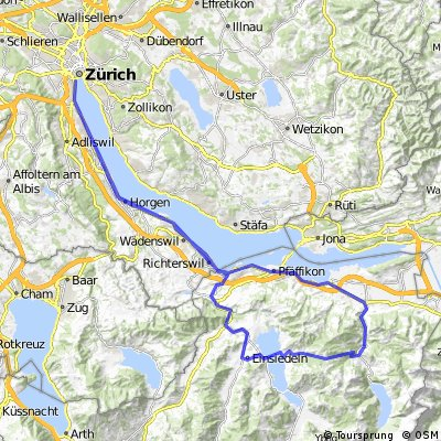 Cycling routes and bike maps in and around Horgen Bikemap Your