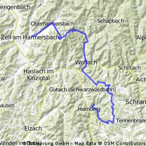 Hornberg - Zell (Variante 2)