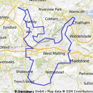 70 mile training route