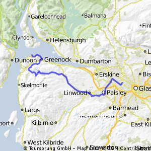 Broomhill to Gourock Rail Station