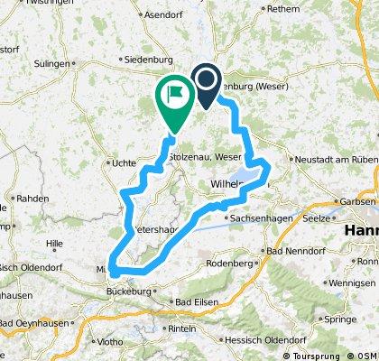 Nienburg - Steinhude - Minden - Nienburg
