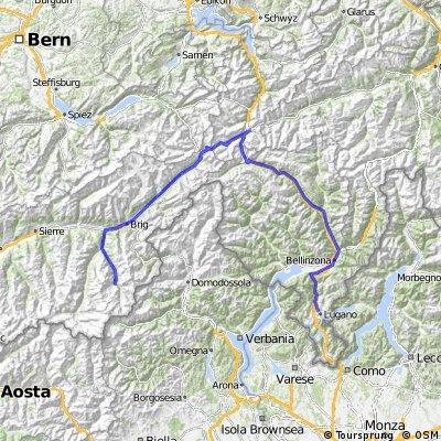 Savosa-Andermatt-Saas Fee