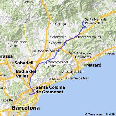 Sant Andreu de palomar-Palau per camins planers