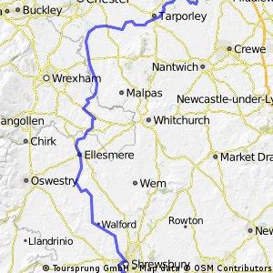Shrewsbury to Winsford Day6 LEJOG