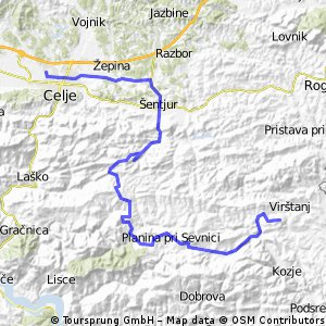Celje-Proseniško-Šentrupert-Mrzlo polje-Planina-Zagorje-Drensko rebro