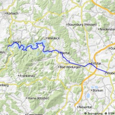 Herzhausen - Edersee - Wabern
