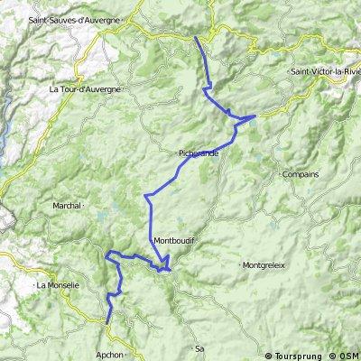 3.etapa Mont-Dore - Riom-es-Montagnes