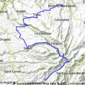 4.etapa Riom-es-Montagnes - Saint-Cirgues-De-Jordanne