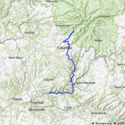 5.etapa Saint-Cirgues-De-Jordanne - Coursavy