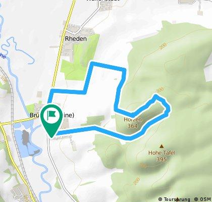 Lauf Hörzen; 9 km; ca. 250 hm