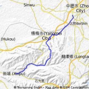 平鎮--楊梅--涼傘頂--照東國小--新埔