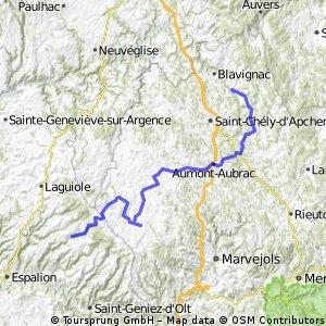 7.etapa St Chely d Aubrac - Le Malzieu-Ville