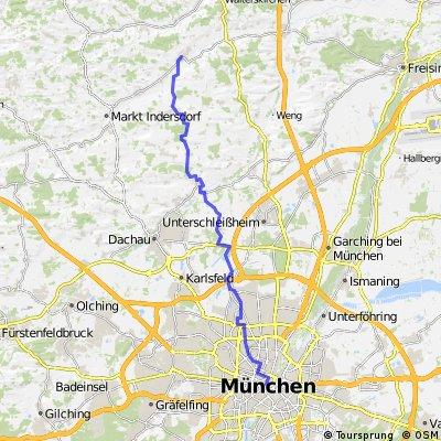 München nach Petershausen