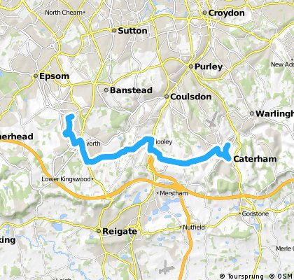 Caterham/Chaldon/Hooley/Chipsetad/kingswood/Epsom Downs