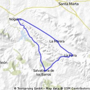 Hasta Nogales por el Embalse y vuelta