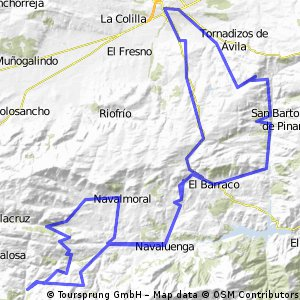 ruta montaña desde avila