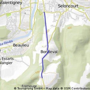 Cycling the Alps Cote de Bondeval (0499m)