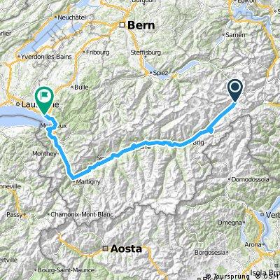 Route du Rhône (Oberwald - Vevey)