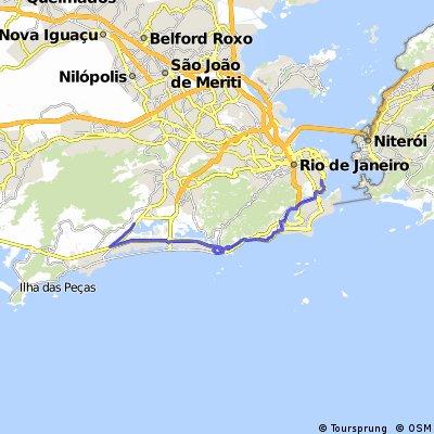 Rio Centro até Largo do Machado pela Orla