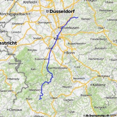 Aus der Eifel zurück nach Hückeswagen