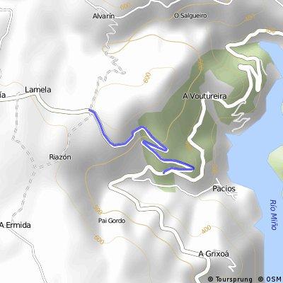 Subida desde el río Miño hasta Lamela (Castro - Carballedo)