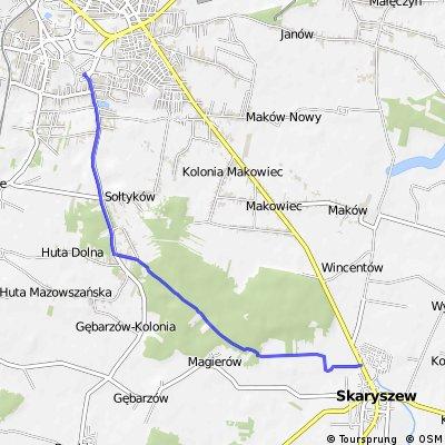 Radom - Skaryszew (przez las)