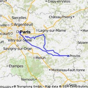Paris > Provins : tentative A/R