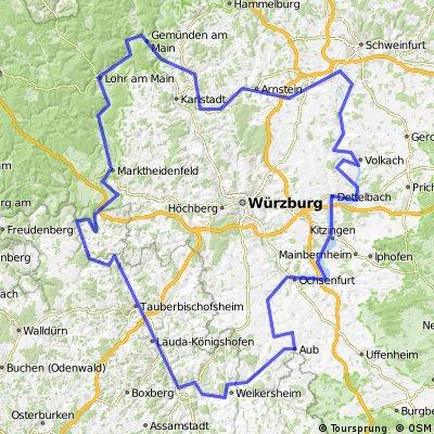 Drei Tages Radtour Richtung Wertheim & Kitzingen