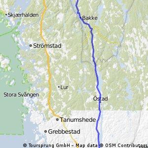 Rute4 Grænsen-->Häææevadsholm 78km