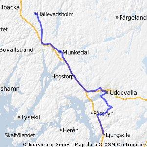 Rute5 Hälle -->Ljungskile 62 km