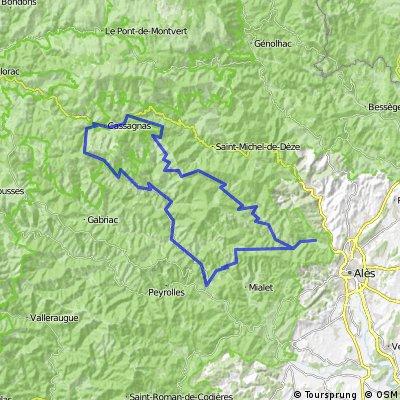 5 septembre 2012 - PORTÉE LA BAUME - Col D'UGLAS - Sortie cyclo MUC Montpellier du mercredi