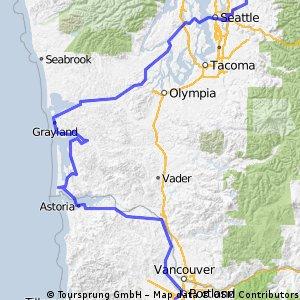 Duvall, WA to Portland, OR: Option 1