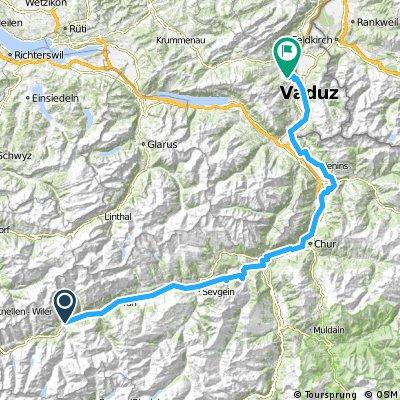 Route du Rhin (Disentis - Buchs)