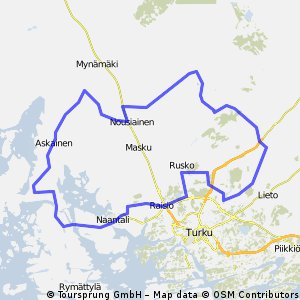 Cycling routes and bike maps in and around Raisio Bikemap Your
