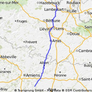 France day 2 - Armentieres - Morieul 78.6 miles