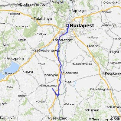 Nemetker to budapest via Paks