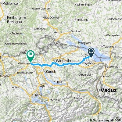Route Mittelland (Egnach/Romanshorn - Baden)