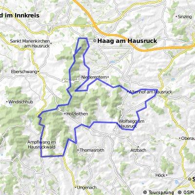Hausruck-Plateaus und Höhenweg